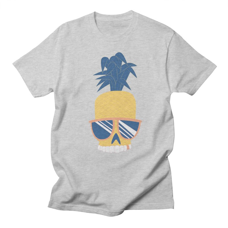 Pineapple Skull w/ sunglasses Men's Regular T-Shirt by Oddesigners's Artist Shop