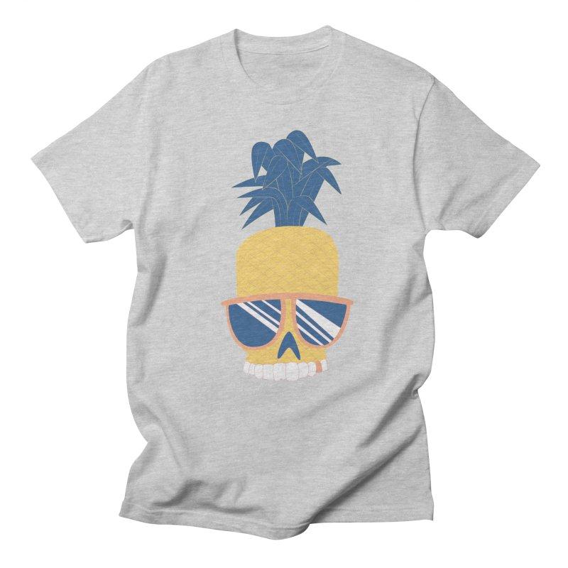Pineapple Skull w/ sunglasses Women's Regular Unisex T-Shirt by Oddesigners's Artist Shop