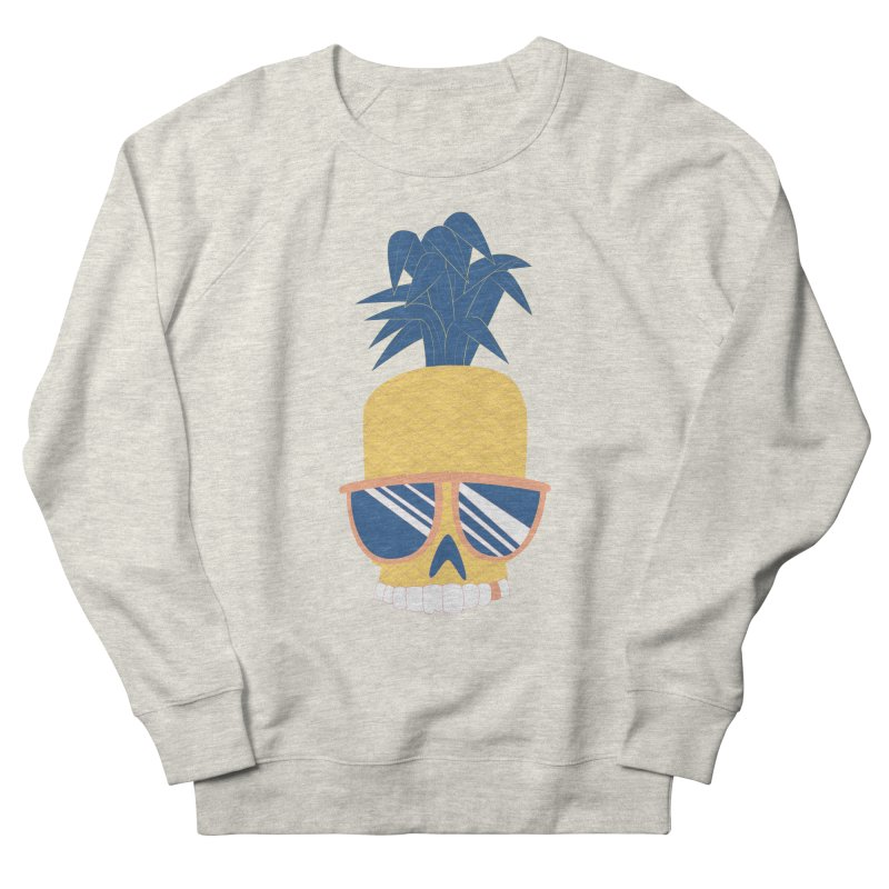 Pineapple Skull w/ sunglasses Women's French Terry Sweatshirt by Oddesigners's Artist Shop