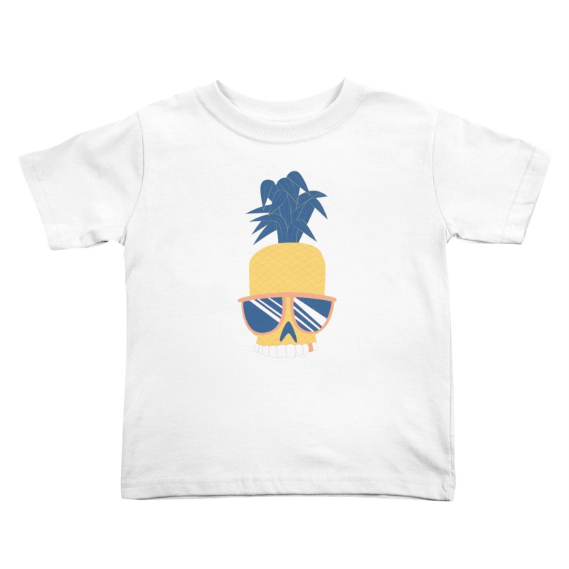 Pineapple Skull w/ sunglasses Kids Toddler T-Shirt by Oddesigners's Artist Shop
