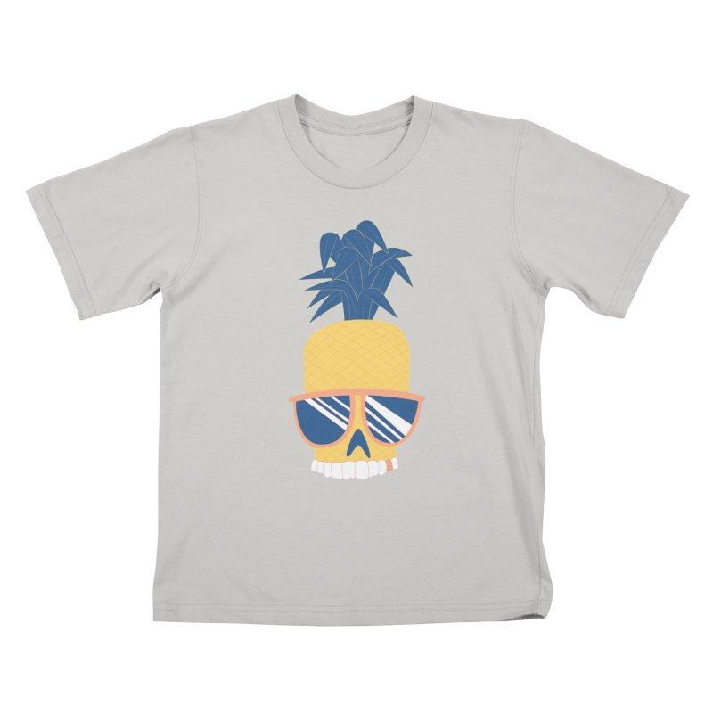 Pineapple Skull w/ sunglasses Kids T-Shirt by Oddesigners's Artist Shop