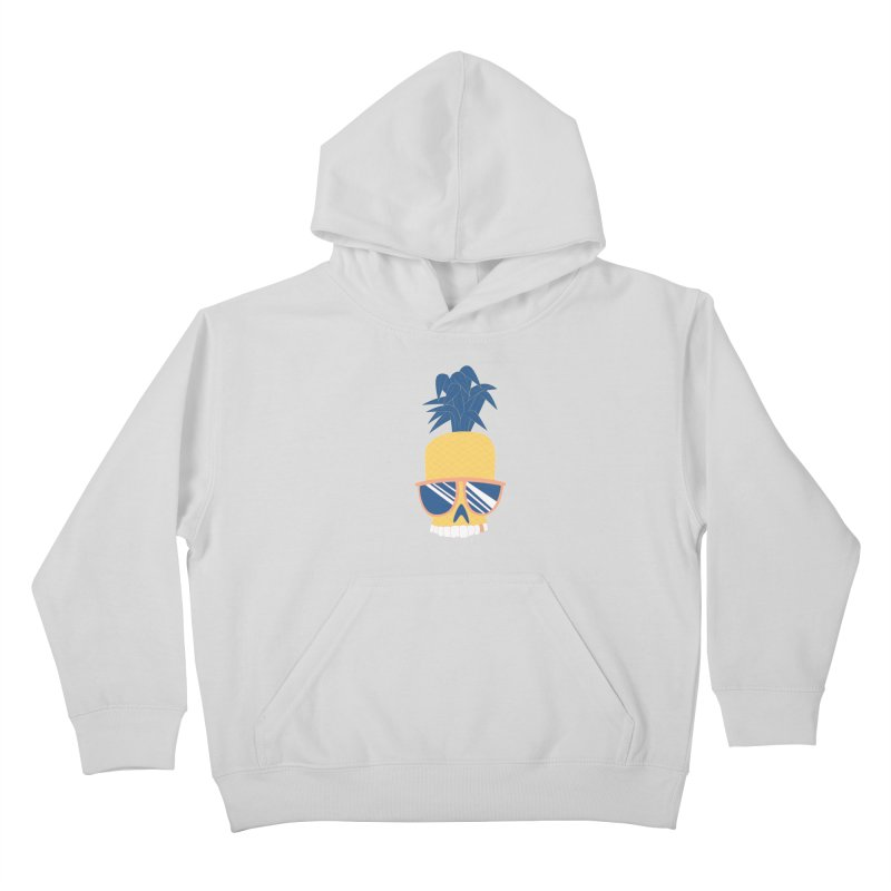 Pineapple Skull w/ sunglasses Kids Pullover Hoody by Oddesigners's Artist Shop