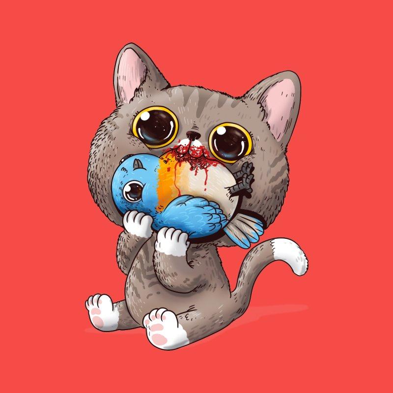 Cat & Bird Men's T-Shirt by Alex Solis Merch Shop