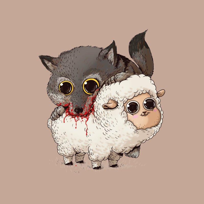 Wolf & Sheep Accessories Mug by Alex Solis Merch Shop