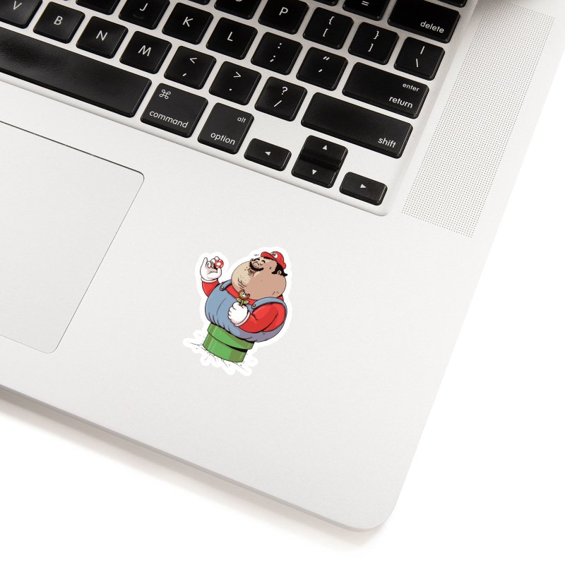 It's a Me! in White Sticker by Alex Solis Merch Shop