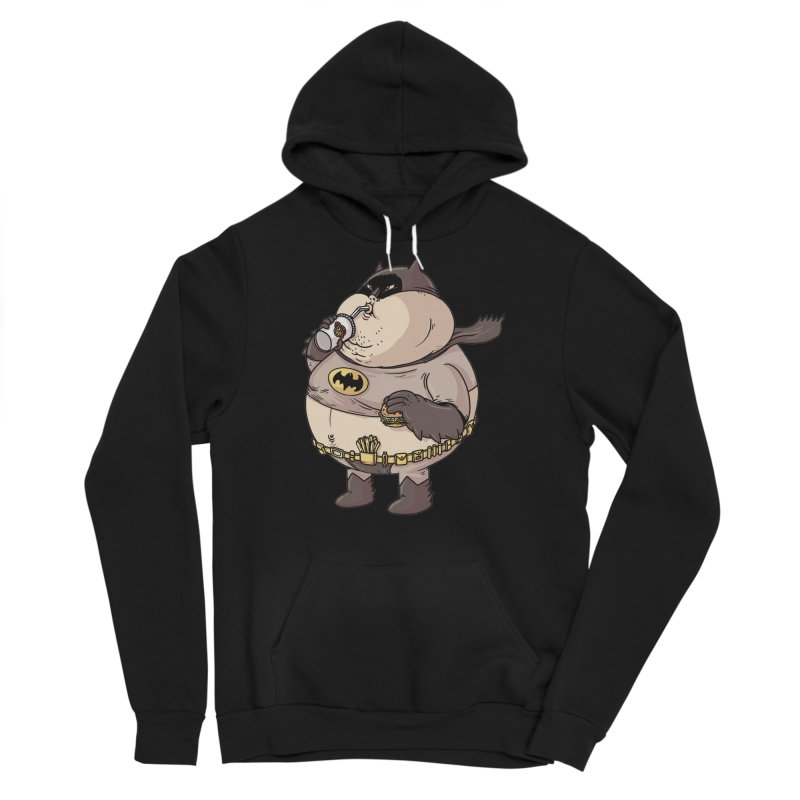 Chunky Knight in Men's Sponge Fleece Pullover Hoody Black by Alex Solis Merch Shop