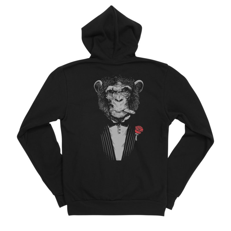 Monkey Business in Men's Sponge Fleece Zip-Up Hoody Black by Alex Solis Merch Shop