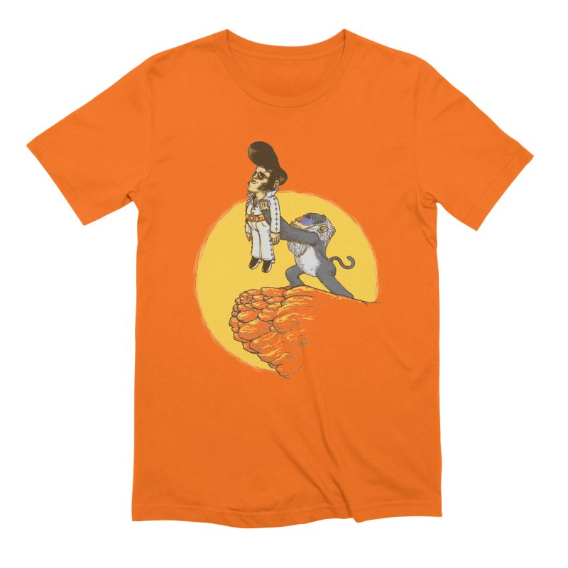 The King in Men's Extra Soft T-Shirt Bright Orange by Alex Solis Merch Shop
