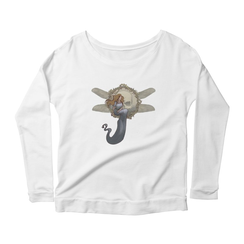 Dragonfly Women's Longsleeve Scoopneck  by odiolitos's Artist Shop
