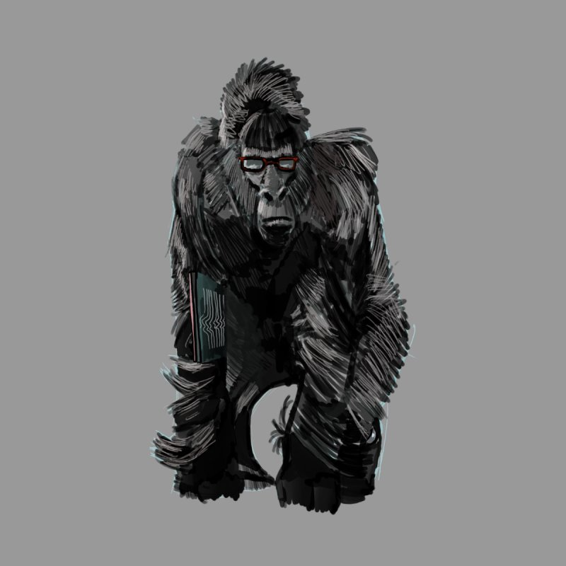 Wayfaring gorilla None  by odiolitos's Artist Shop