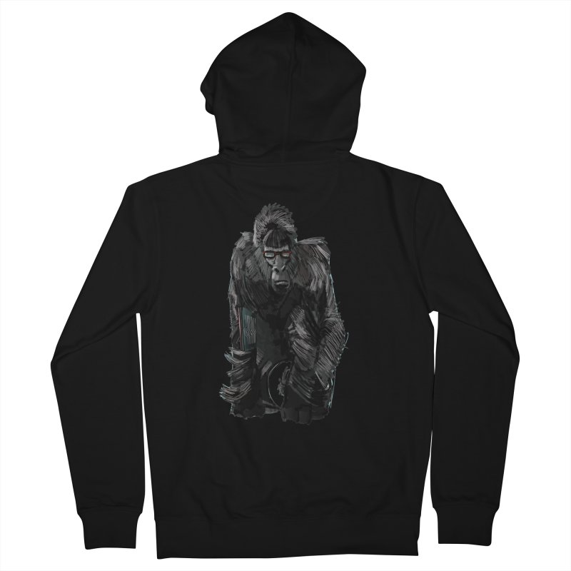 Wayfaring gorilla Women's Zip-Up Hoody by odiolitos's Artist Shop