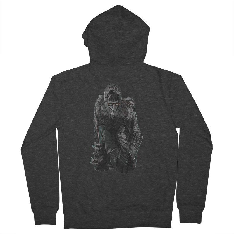 Wayfaring gorilla Men's Zip-Up Hoody by odiolitos's Artist Shop