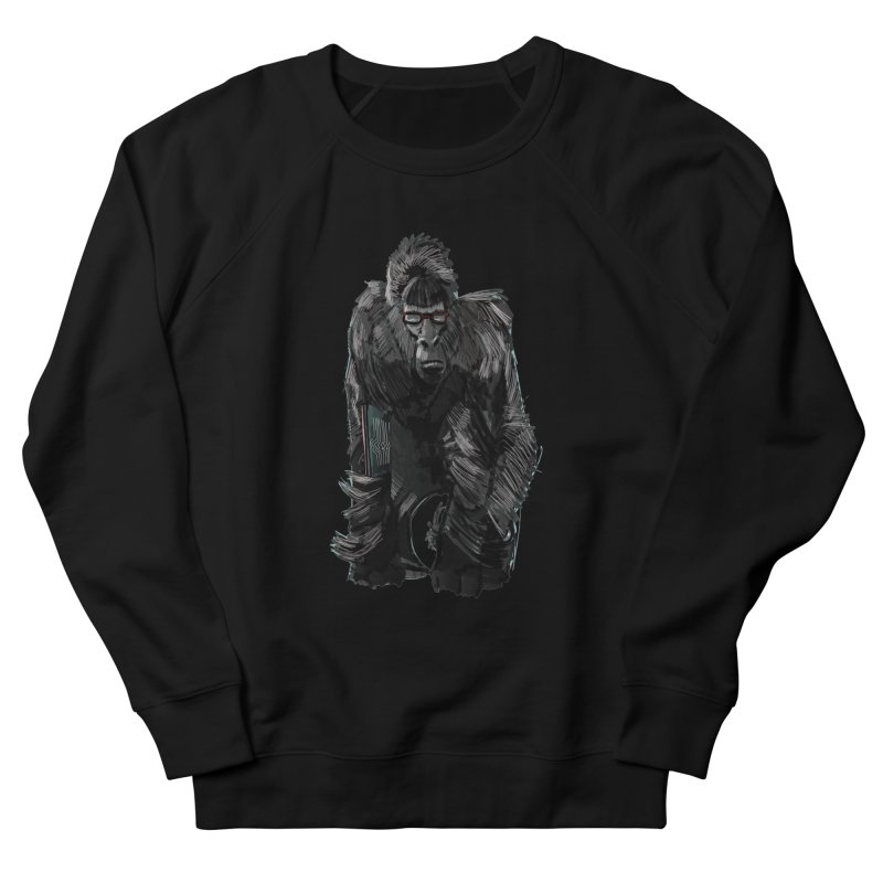 Wayfaring gorilla Women's Sweatshirt by odiolitos's Artist Shop