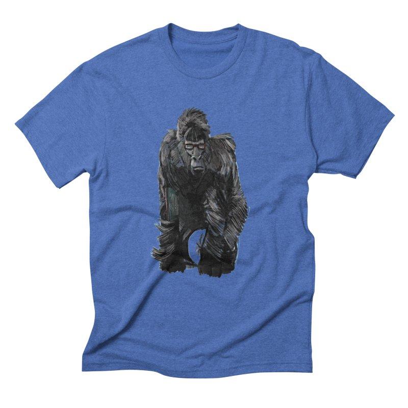 Wayfaring gorilla Men's Triblend T-shirt by odiolitos's Artist Shop