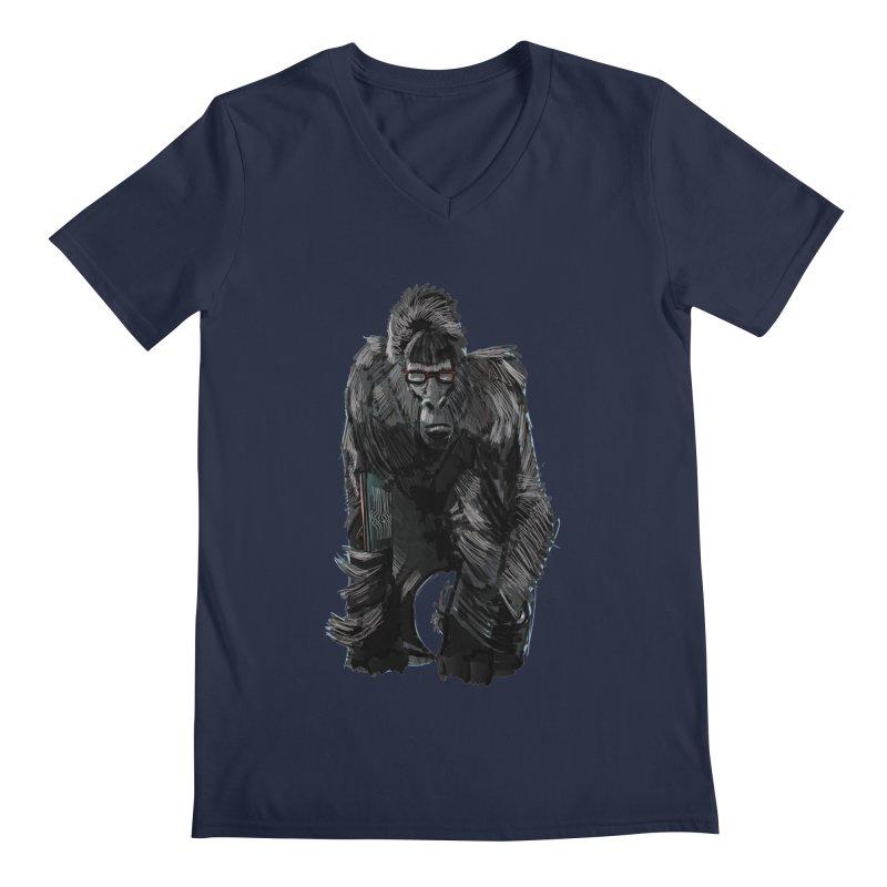 Wayfaring gorilla Men's V-Neck by odiolitos's Artist Shop
