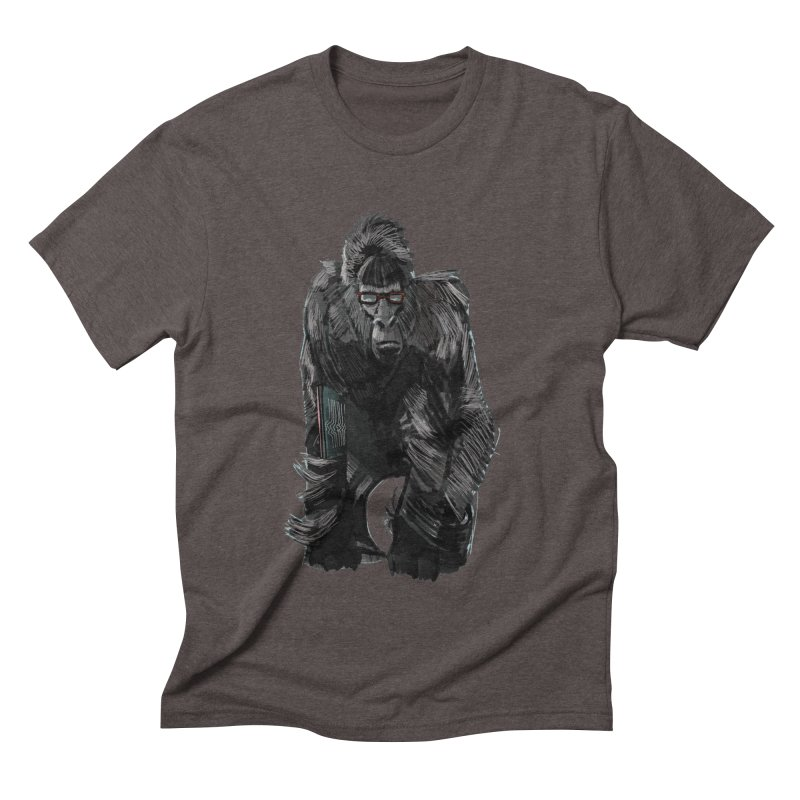 Wayfaring gorilla Men's Triblend T-shirt by odiolitos's Artist Shop