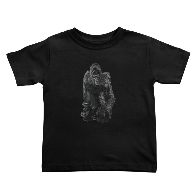Wayfaring gorilla Kids Toddler T-Shirt by odiolitos's Artist Shop