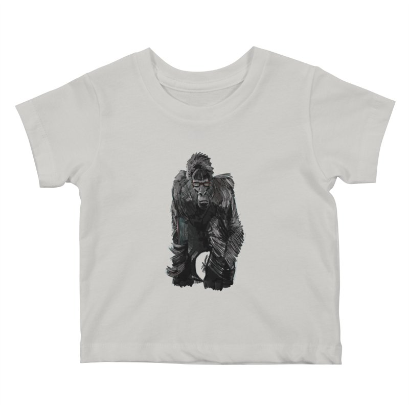 Wayfaring gorilla Kids Baby T-Shirt by odiolitos's Artist Shop