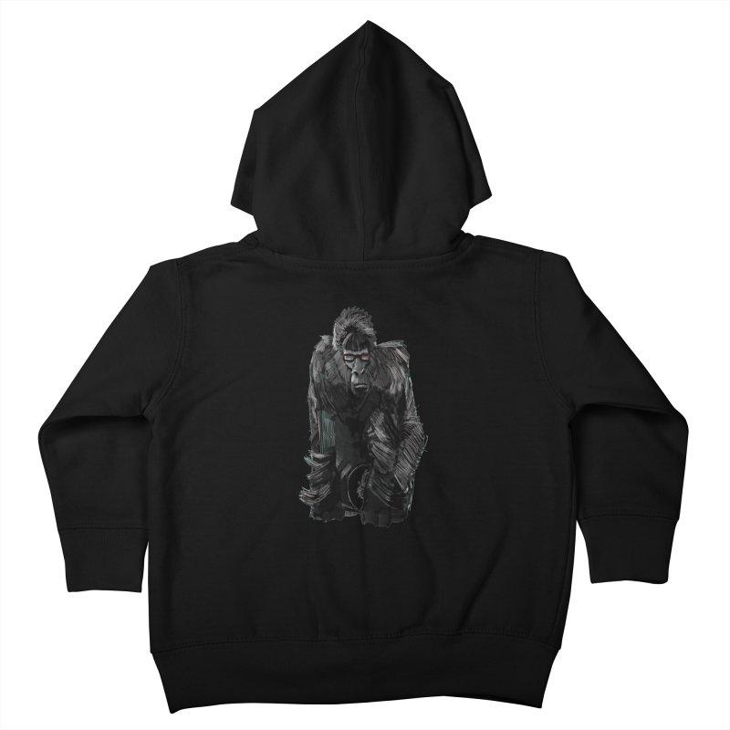 Wayfaring gorilla Kids Toddler Zip-Up Hoody by odiolitos's Artist Shop