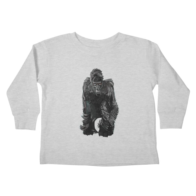 Wayfaring gorilla Kids Toddler Longsleeve T-Shirt by odiolitos's Artist Shop