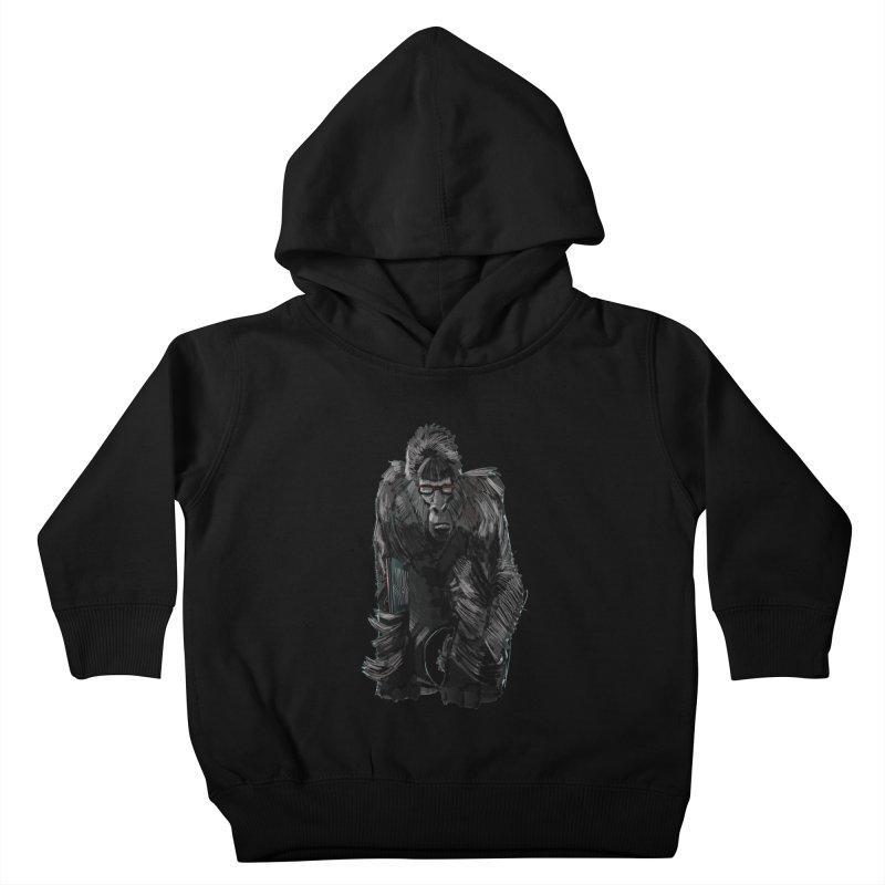 Wayfaring gorilla Kids Toddler Pullover Hoody by odiolitos's Artist Shop