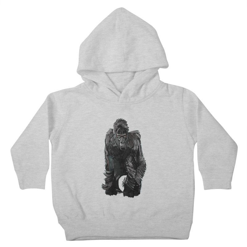 Wayfaring gorilla Kids Toddler Pullover Hoody by odiolitos's Artist Shop