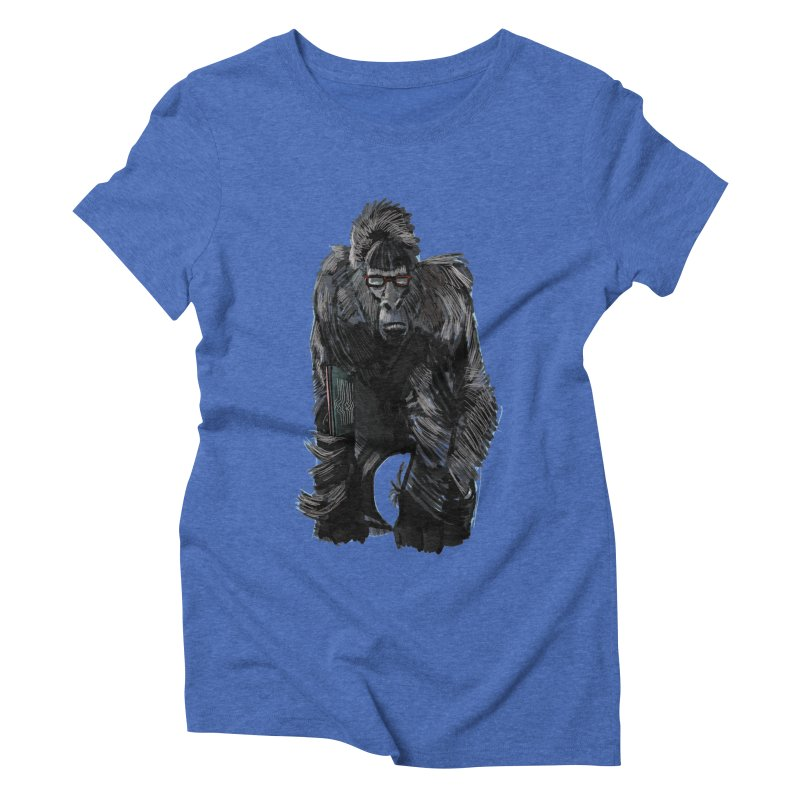 Wayfaring gorilla Women's Triblend T-Shirt by odiolitos's Artist Shop
