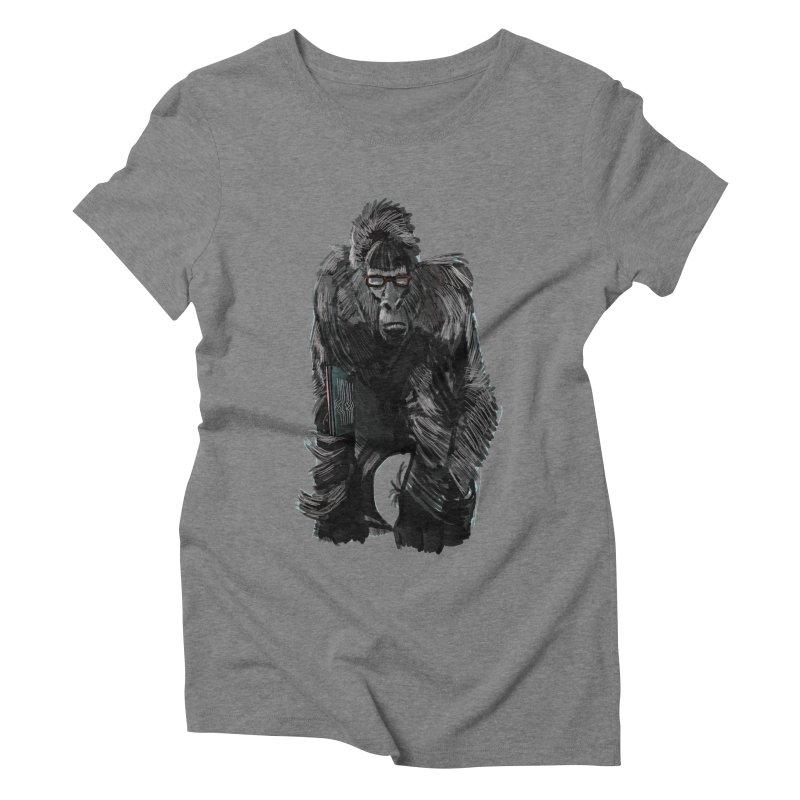 Wayfaring gorilla Women's Triblend T-shirt by odiolitos's Artist Shop