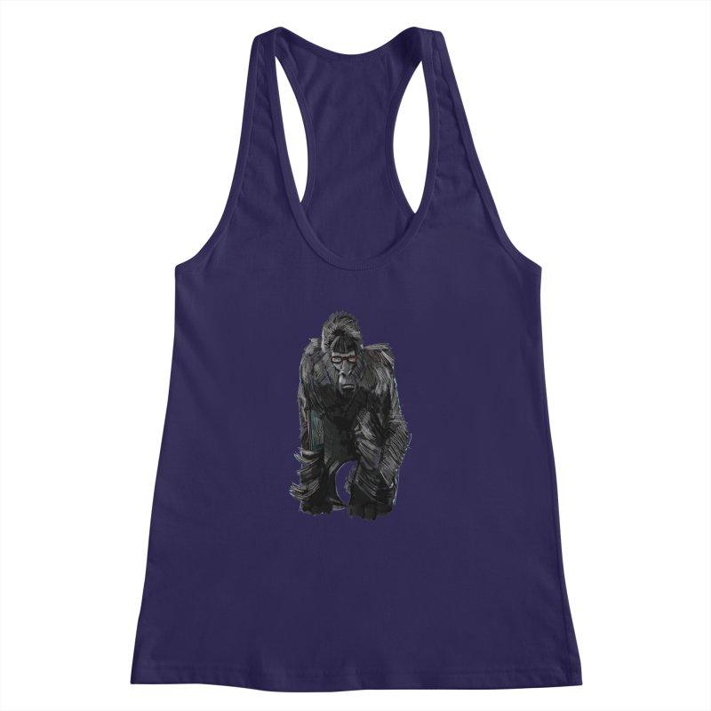 Wayfaring gorilla Women's Racerback Tank by odiolitos's Artist Shop