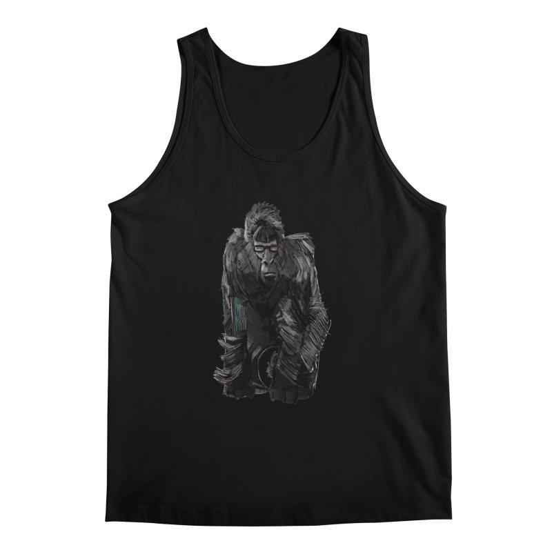 Wayfaring gorilla Men's Tank by odiolitos's Artist Shop