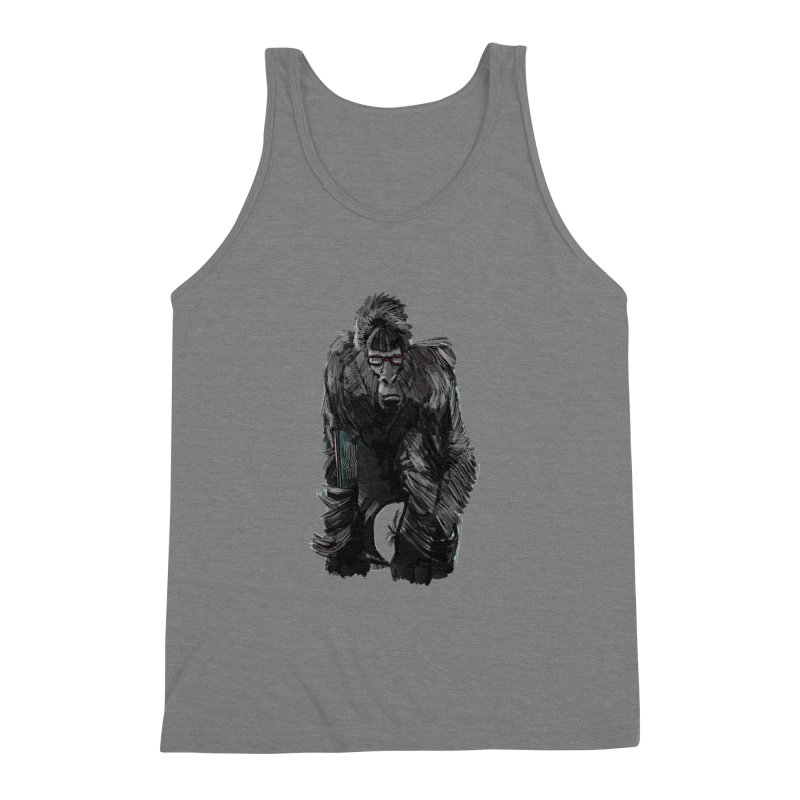 Wayfaring gorilla Men's Triblend Tank by odiolitos's Artist Shop