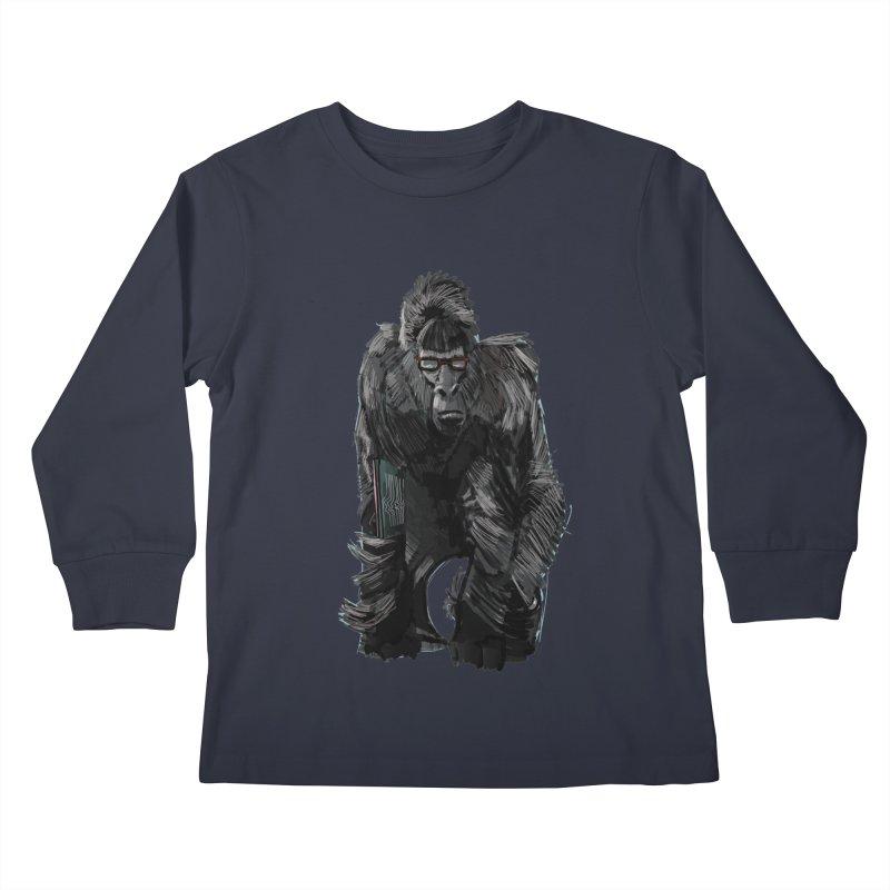 Wayfaring gorilla Kids Longsleeve T-Shirt by odiolitos's Artist Shop