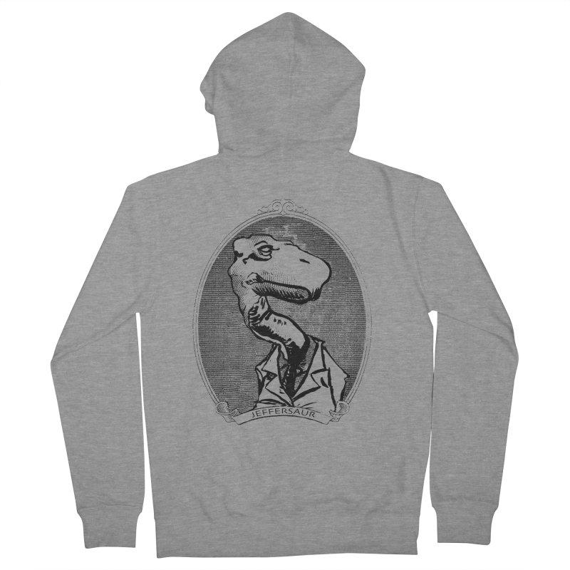 Jeffersaur Men's Zip-Up Hoody by odiolitos's Artist Shop