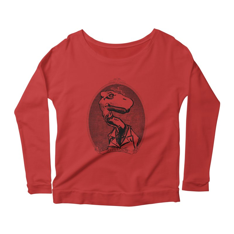 Jeffersaur Women's Longsleeve Scoopneck  by odiolitos's Artist Shop