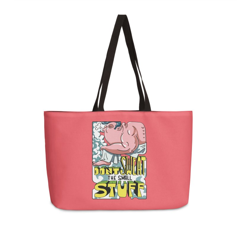Don't Sweat the Small Stuff Accessories Bag by oenricao's Artist Shop