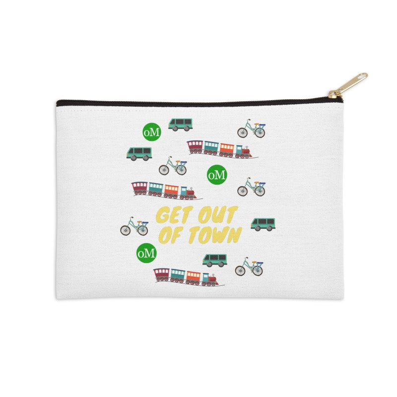 Get Out of Town Accessories Zip Pouch by offMetro's Artist Shop