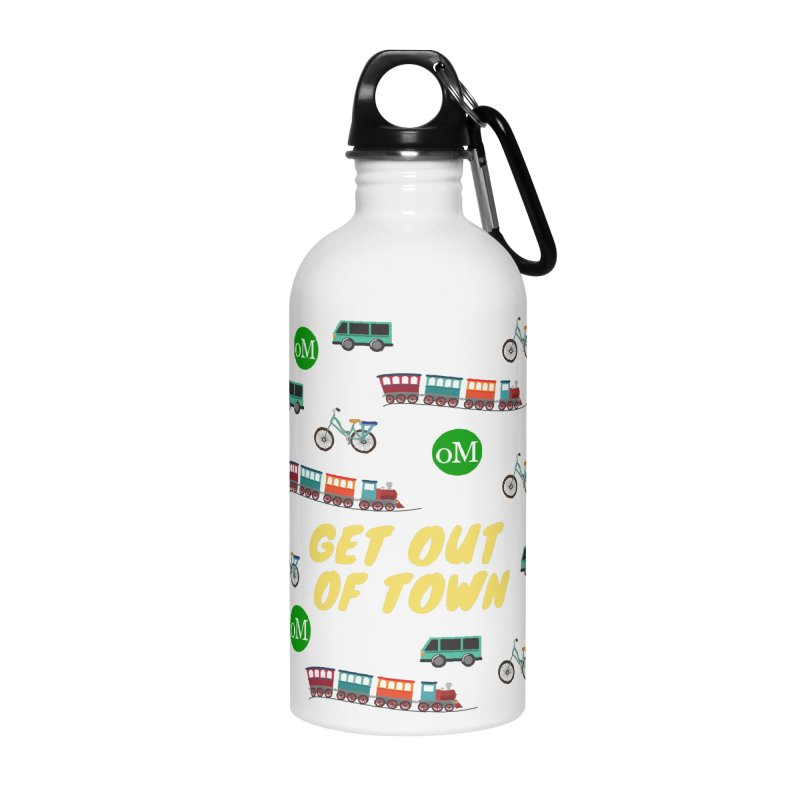 Get Out of Town in Water Bottle by offMetro's Artist Shop