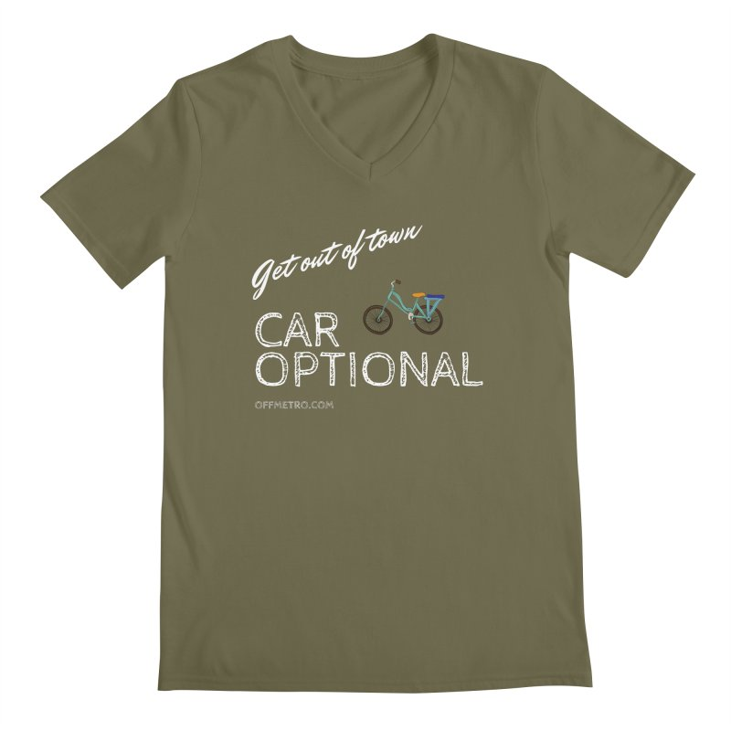Car? Optional! Men's Regular V-Neck by offMetro's Artist Shop