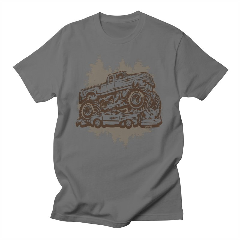 MONSTER TRUCK CRUSH STUNT Men's T-Shirt by Off-Road Styles