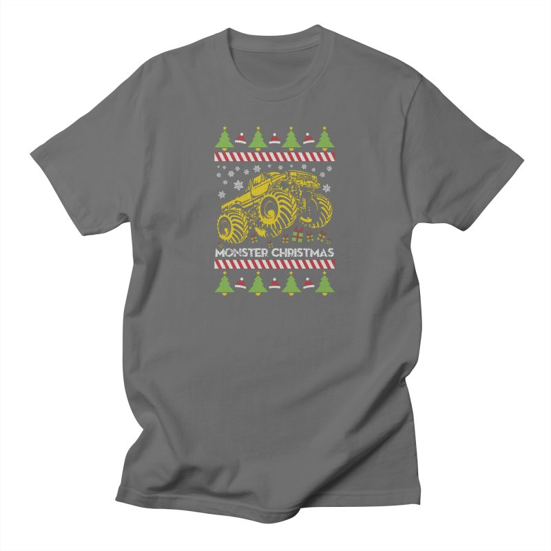 MONSTER CHRISTMAS TRUCK Men's T-Shirt by Off-Road Styles