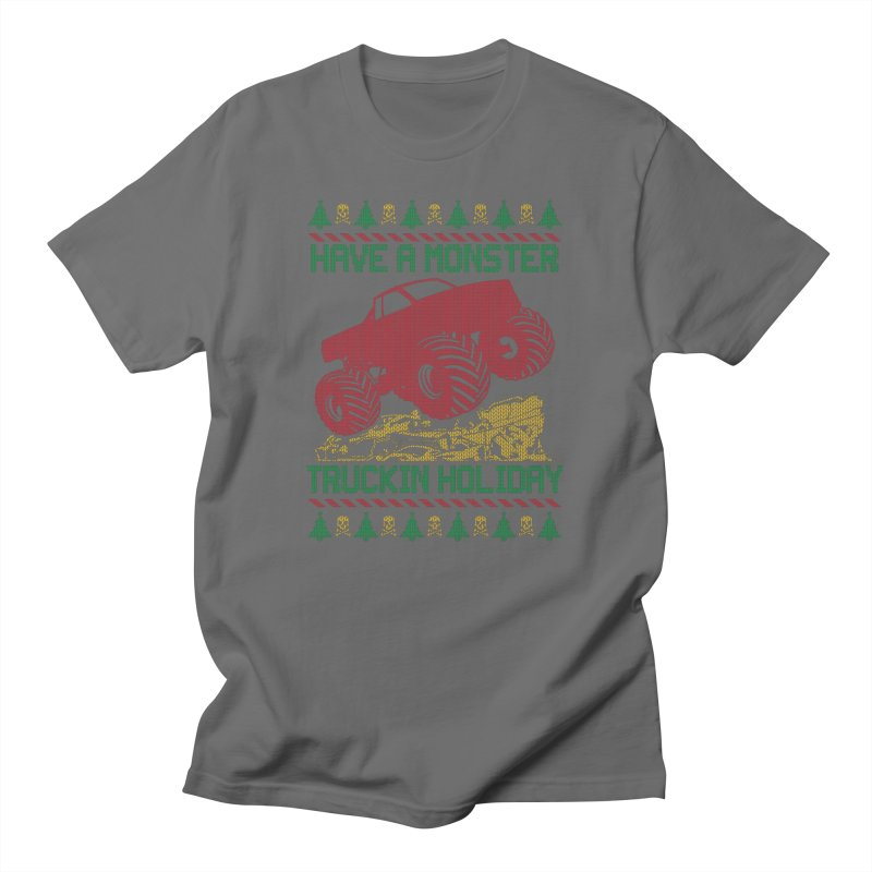 HAVE A MONSTER TRUCKIN HOLIDAY Men's T-Shirt by Off-Road Styles