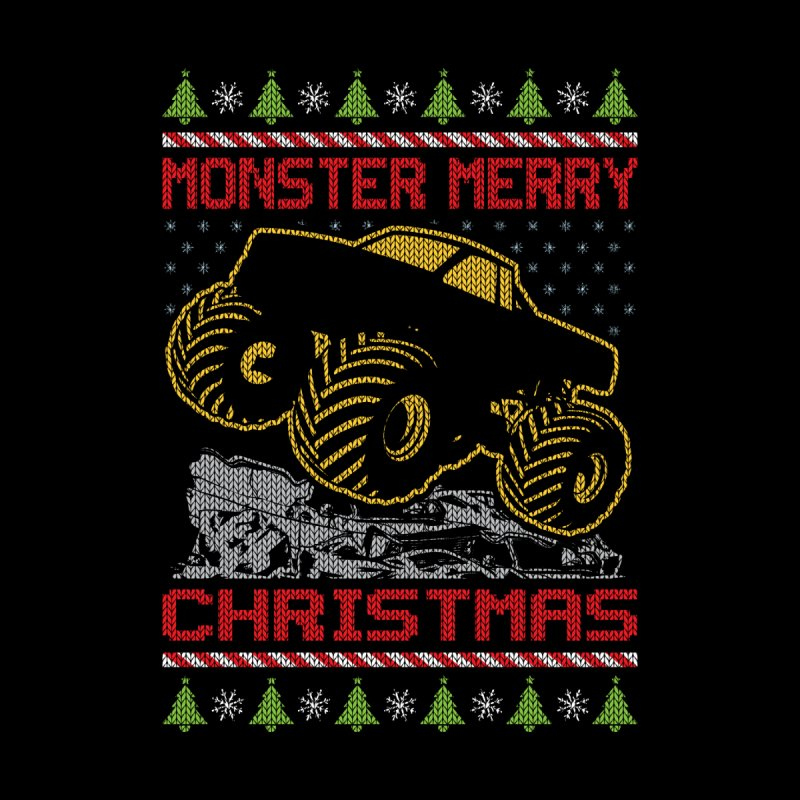 MONSTER MERRY CHRISTMAS Men's T-Shirt by Off-Road Styles