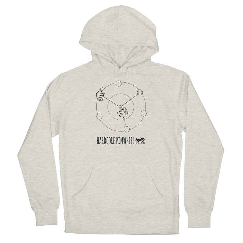 Hardcore Pinwheel, black Men's French Terry Pullover Hoody by OFF-ROAD YOYO