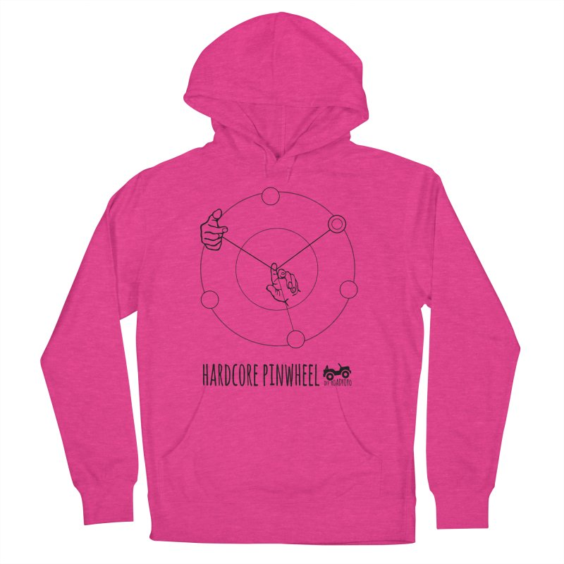 Hardcore Pinwheel, black Women's French Terry Pullover Hoody by OFF-ROAD YOYO
