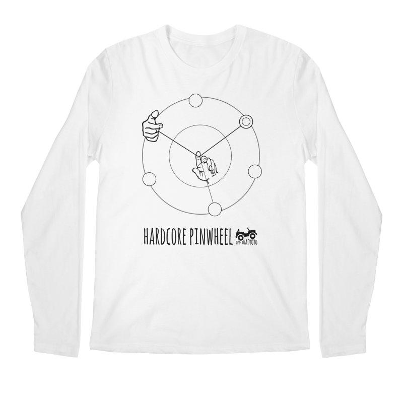 Hardcore Pinwheel, black Men's Regular Longsleeve T-Shirt by OFF-ROAD YOYO