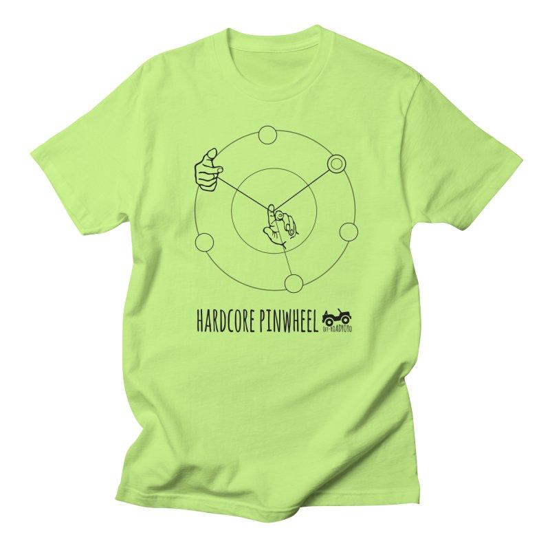 Hardcore Pinwheel, black Men's Regular T-Shirt by OFF-ROAD YOYO