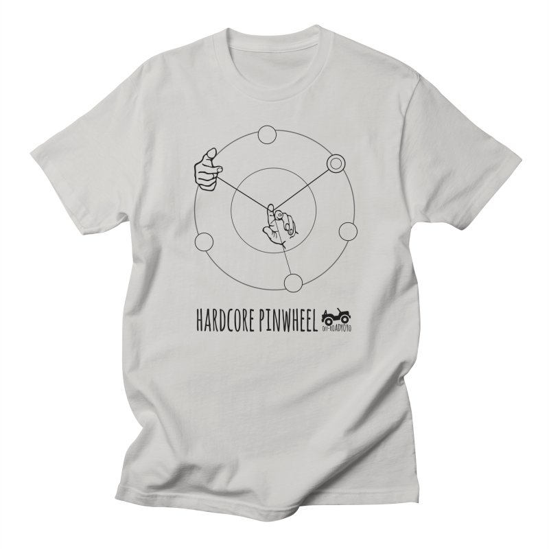 Hardcore Pinwheel, black Men's Regular T-Shirt by OFF-ROAD YOYO
