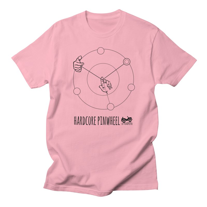 Hardcore Pinwheel, black Women's Regular Unisex T-Shirt by OFF-ROAD YOYO