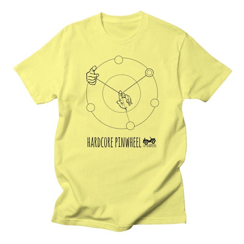 Hardcore Pinwheel, black Men's T-Shirt by OFF-ROAD YOYO