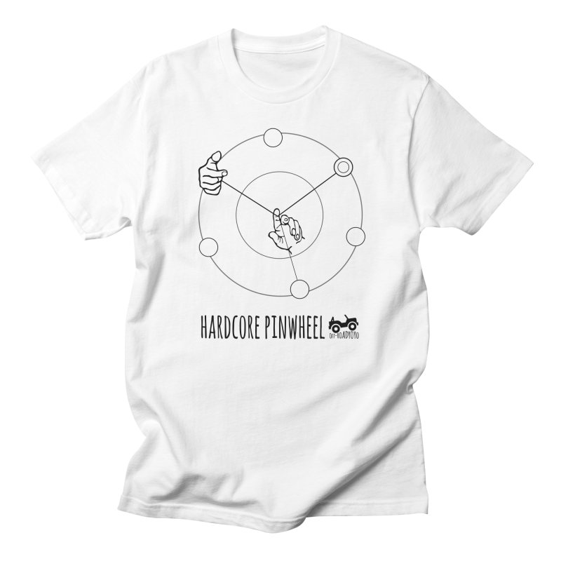 Hardcore Pinwheel, black Women's Regular Unisex T-Shirt by OFF-ROAD YOYO